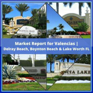 Market Report for Valencias Delray Beach, Boynton Beach & Lake Worth FL